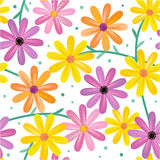 Teste padrão de flores sem emenda do gerbera ilustração royalty free