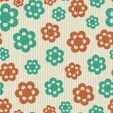 Teste padrão de flores sem emenda retro Fotos de Stock