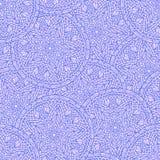 Teste padrão de flores sem emenda tirado mão da mandala Imagem de Stock Royalty Free