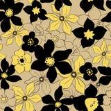 Teste padrão de flores tropical Foto de Stock