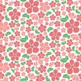 Teste padrão de flores vermelho sem emenda Foto de Stock Royalty Free