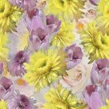 Teste padrão de Flowers_ Imagem de Stock