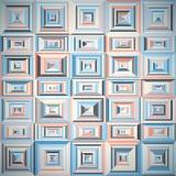 Teste padrão de formas geométricas com telhas Fotografia de Stock Royalty Free