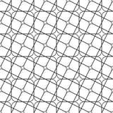 Teste padrão de grade curvado angular monocromático sem emenda ilustração do vetor