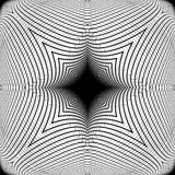 Teste padrão de grade entortado monochrome do projeto Fotografia de Stock Royalty Free