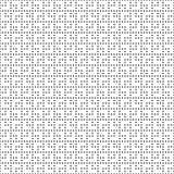 Teste padrão de grade quadrado dos pontos monocromáticos sem emenda Textura geométrica branca preta simples para a tela e a roupa Fotografia de Stock