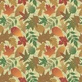 Teste padrão de Grunge das folhas de outono ilustração do vetor