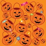 Teste padrão de Halloween Ilustração Stock