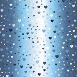 Teste padrão de incandescência do coração Vetor sem emenda Imagem de Stock Royalty Free