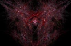 Teste padrão de incandescência do fractal vermelho Textura do fractal da fantasia Twirl vermelho de Digitas art rendição 3d Image ilustração stock