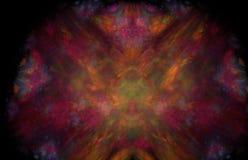 Teste padrão de incandescência do fractal vermelho Textura do fractal da fantasia Twirl vermelho de Digitas art rendição 3d Image ilustração royalty free