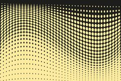 Teste padrão de intervalo mínimo futurista abstrato Fundo cômico O contexto pontilhado com círculos, pontos, aponta a grande esca Fotos de Stock Royalty Free