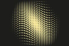 Teste padrão de intervalo mínimo futurista abstrato Fundo cômico O contexto pontilhado com círculos, pontos, aponta a grande esca Foto de Stock Royalty Free