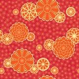 Teste padrão de Japão com flores Imagem de Stock