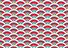 Teste padrão de Japão para o cloning e unir ilustração stock