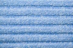 Teste padrão de lã azul fotografia de stock