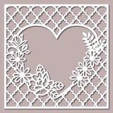 Teste padrão de Lacy Heart With Carved Openwork ilustração stock