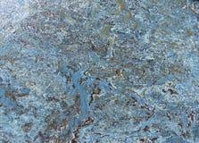 Teste padrão de mármore azul da textura Imagem de Stock Royalty Free