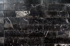 Teste padrão de mármore preto tailandês Fotos de Stock Royalty Free