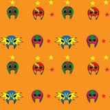 Teste padrão de máscara mexicano do lutador Fotografia de Stock Royalty Free