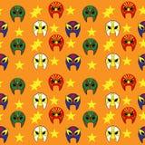 Teste padrão de máscara mexicano do lutador Imagem de Stock