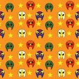Teste padrão de máscara mexicano do lutador Foto de Stock Royalty Free