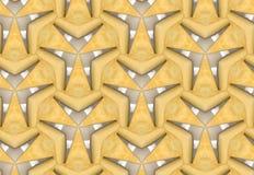 Teste padrão de maçãs cortadas no teste padrão geométrico telhado Fotografia de Stock Royalty Free