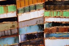 Teste padrão de madeira colorido abstrato Imagens de Stock