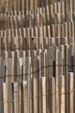 Teste padrão de madeira da cerca Imagem de Stock