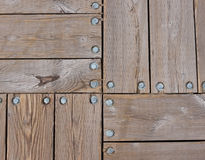 Teste padrão de madeira da plataforma e dos parafusos Foto de Stock