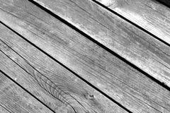 Teste padrão de madeira do assoalho com efeito do borrão em preto e branco Imagem de Stock Royalty Free