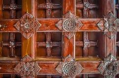 Teste padrão de madeira do projeto do artesanato Fotografia de Stock Royalty Free