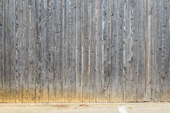Teste padrão de madeira paralelo grande da cerca, fundo Imagens de Stock Royalty Free