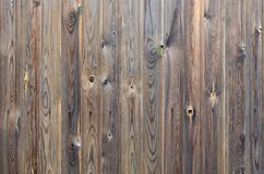 Teste padrão de madeira velho do painel do marrom escuro do grunge com textura abstrata bonita da superfície da grão, fundo listr imagem de stock royalty free