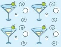 Teste padrão de Martini ilustração stock