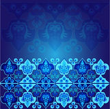 Teste padrão de matéria têxtil da flor, do ponto e do medalhão Fotos de Stock Royalty Free