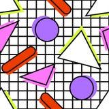 Teste padrão de Memphis geométrico imagens de stock royalty free