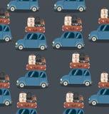 Teste padrão de Mini Car ilustração stock