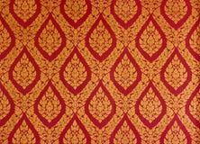 Teste padrão de mistura da pintura tailandesa dourada. Foto de Stock Royalty Free
