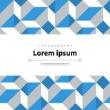 Teste padrão de mosaico abstrato, conceito minimalistic Imagem de Stock Royalty Free