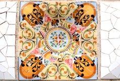 Teste padrão de mosaico aleatório - Gaudi Fotografia de Stock Royalty Free