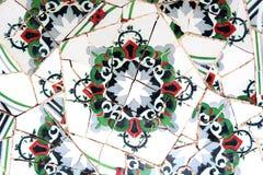 Teste padrão de mosaico aleatório - Gaudi Fotos de Stock Royalty Free