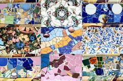Teste padrão de mosaico aleatório - Gaudi Foto de Stock