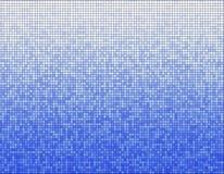 Teste padrão de mosaico azul Imagens de Stock