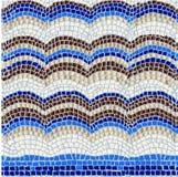 Teste padrão de mosaico azul Fotos de Stock Royalty Free