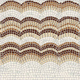 Teste padrão de mosaico bege Fotografia de Stock Royalty Free