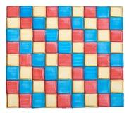 Teste padrão de mosaico brilhante Foto de Stock