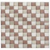 Teste padrão de mosaico de Brown Imagem de Stock