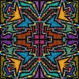 Teste padrão de mosaico de vidro do fundo abstrato colorido Ilustração do Vetor