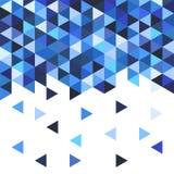 Teste padrão de mosaico geométrico do triângulo azul Imagem de Stock